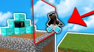 Invisible Wall TROLL!... (Minecraft Skyblock Trolling)