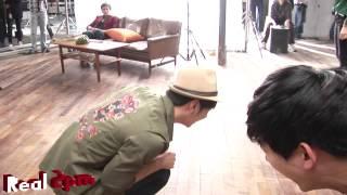 Хван Чан Сон (2PM), Chansung & Taecyeon - на съемках рекламы пиццы