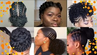 ❤💕Amazing Quick And Easy Natural Hairstyles On /short, Medium, Long Hair. Trending Styles 2019.❤💕