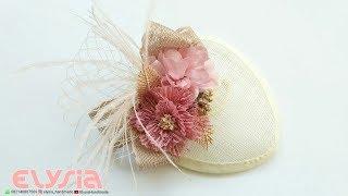 How To Make 👒 SINAMAY Fascinator Hat 👒 DIY By Elysia Handmade