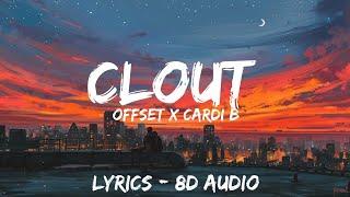 Offset   Clout Ft. Cardi B (Lyrics  Letra  8D AudioSpanish  Bass Boosted )