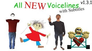 All NEW Voicelines with Subtitles (v1.3) | Baldi