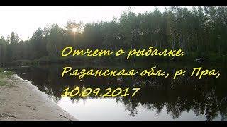 Река пра рязанская область отчеты о рыбалке форум