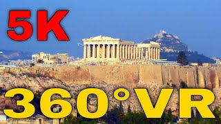 360° VR Acropolis of Athens Greece All About Viral Youtube Travel Videos 5K 3D Virtual Reality HD 4K