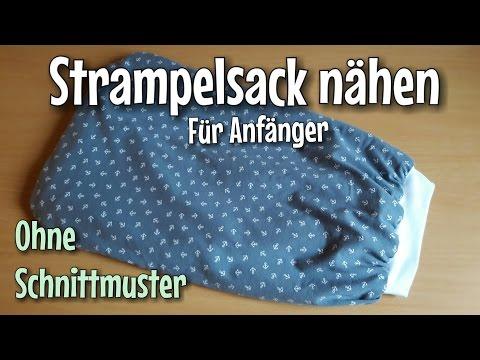 Strampelsack Nähanleitung - OHNE Schnittmuster- Anfänger - Nähtinchen