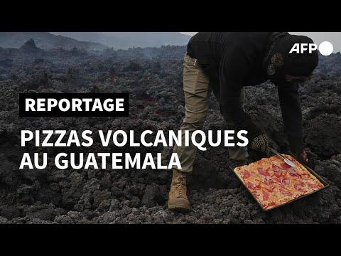 Au Guatemala, on cuit des pizzas sur un volcan   AFP Au Guatemala, on cuit des pizzas sur un volcan   AFP