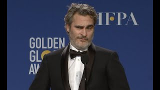 Joaquin Phoenix Is Tired of Answering Same 'Joker' Questions: 'This Is Old News' — Golden Globes
