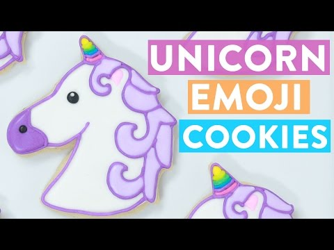 UNICORN EMOJI COOKIES ft Lilly Singh – NERDY NUMMIES