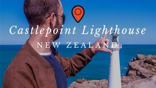 preview picture of video 'Castlepoint Lighthouse New Zealand - North Island Roadtrip Vlog'