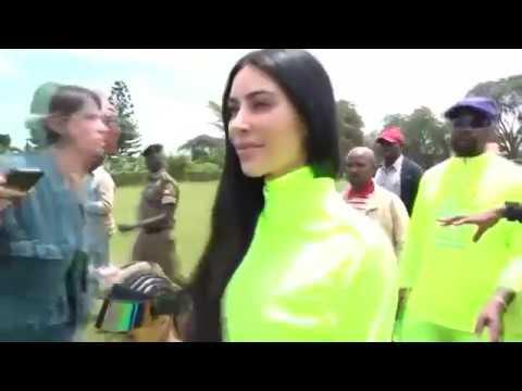 Kanye and Kim, taking it Yeezy in Uganda