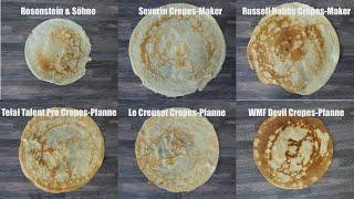 Crêpes Maker / Pfanne Test - 3 Varianten - 6 Produkte