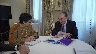 Զոհրաբ Մնացականյանի հանդիպումը Իսպանիայի արտաքին գործերի, Եվրոպական Միության և համագործակցության նախարար Արանչա Գոնսալես Լայայի հետ