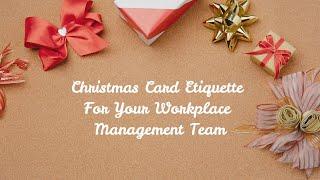 Christmas Card Etiquette For Your Workplace Management Team - Allison & Taylor