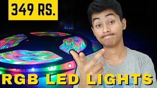 RGB LED Strip Lights - Unbox + Review + How to Setup and Install - Price in India