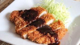 Tonkatsu (deep fried pork) Recipe - Japanese Cooking 101