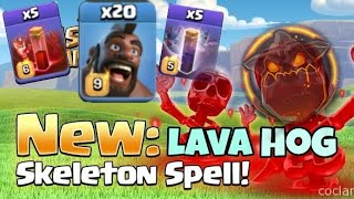 New Strategy Lavahog Skeleton Spell 2019  Clash Of Clans