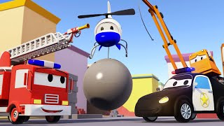 Исчезновение крана - Авто Патруль в Автомобильный Город  🚓 🚒 детский мультфильм