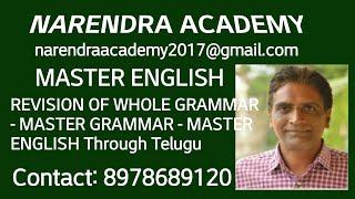 Revision Of Whole Grammar - Master English - English Through Telugu