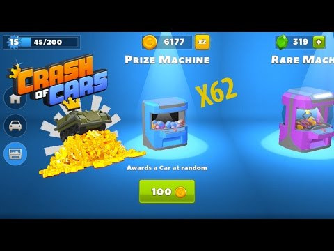 Crash Of Cars 6,000 Coin Prize Machine Opening ! So Many EPIC CARS !!!