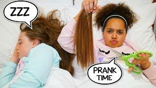 HAIRCUT PRANK ON MY BFF!!  *TIANA FUNNY PRANKS*