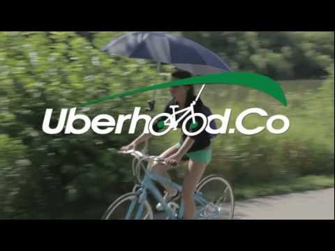 Uberhood Bike-brella Keeps You Dry But Blocks Your Sight