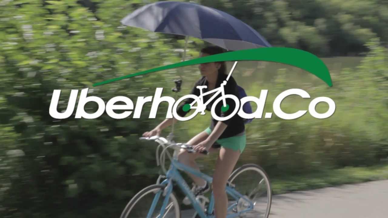 Uberhood Bike-brella Keeps You Dry But Blocks Your Sight
