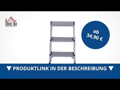Homcom Trittleiter Aluleiter Klapptritt 3 Stufen - direkt kaufen!