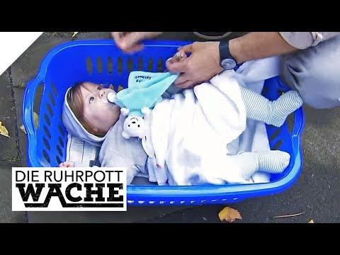 Baby im Korb vor die Wache gelegt: Mutter überfordert?   Die Ruhrpottwache   SAT.1 TV   Die Ruhrpot