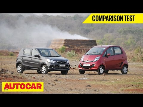 Maruti Alto K10 AMT vs Tata Nano AMT | Comparison Test | Autocar India