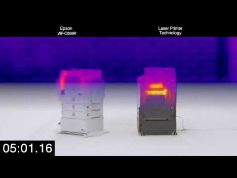 WorkForce Pro WF-C869R: Thermal Imaging Heat Test (Single-page)