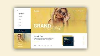 Web Design Speed Art #33 – Minimal Fashion Website [Adobe XD]