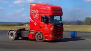 Дрифт на грузовиках Drift on trucks