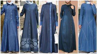 Latest Top 44 Denim Abaya Designs Collection (2020)