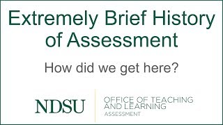 Brief History Of Assessment In Higher Education