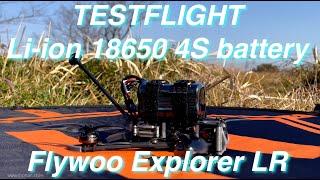 Explorer LR Li-ion 18650 cell battery test flight   20+ minutes FPV long range flight