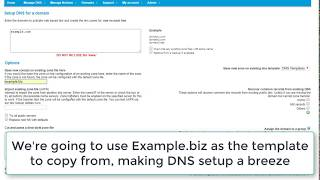 Adding DNS Zone - Copy from an existing zonefile