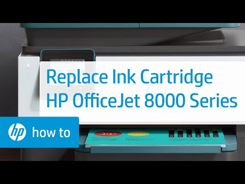 How to Replace an Ink Cartridge in the HP OfficeJet 8010 or OfficeJet Pro 8020 or 8030 Printer Series