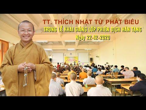 Phát biểu của Thầy Nhật Từ trong Lễ Khai giảng lớp Phiên dịch Hán Tạng tại Viện Nghiên cứu Phật học Việt Nam