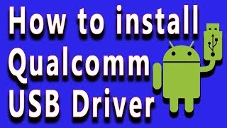 how to Cm2 Dongel Qualcomm Usb Driver Install - hmong video