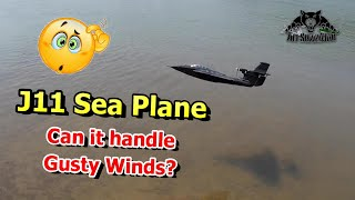 J11 Float Plane Sea Plane Water Jet Flying in Gusty Winds