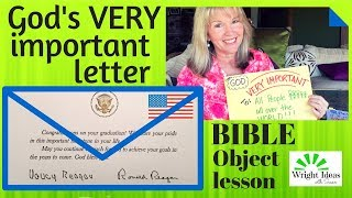 Bible OBJECT LESSON - GOD'S VERY IMPORTANT LETTER