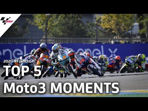 ドライコンディションで行われたMoto3 フランスGP 決勝レースハイライト動画