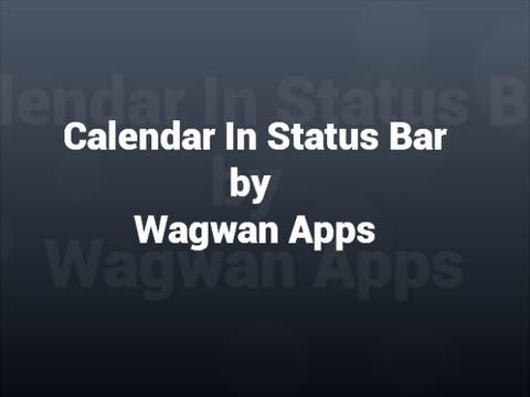 Video of Calendar Status Bar