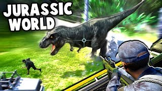 Jurassic World Evolution Gameplay - DINOSAUR ESCAPES PARK! (Jurassic World Evolution Part 1)