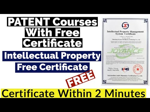 Patent Courses With Free Certificate | Intellectual Property Free ...