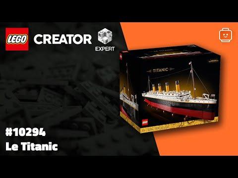 Vidéo LEGO Creator 10294 : Titanic