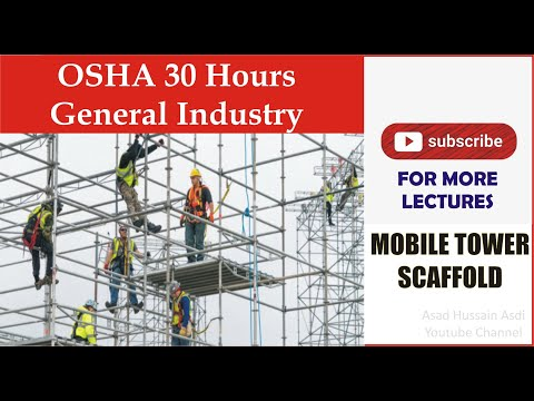 Lecture 16 Osha USA General Industry Course Topic Scaffolding ...