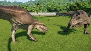 Acrocanthosaurus VS T-REX Update 1.7 - Jurassic World Evolution