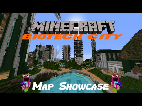 Minecraft Map Showcase #1 | BIOTECH CITY - This Is A AMAZING Map!