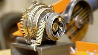 НЕ ВЫБРАСЫВАЙТЕ ПОМПУ двигателя! Реально полезная идея самоделки для болгарки!